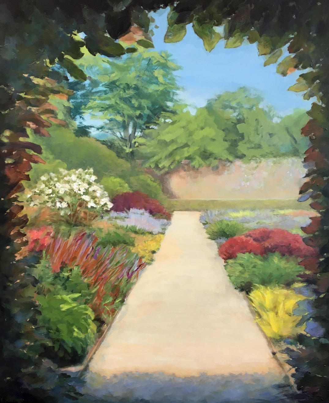 StantonRuth_Beyond The Ivy Archway_Acrylic_30x24