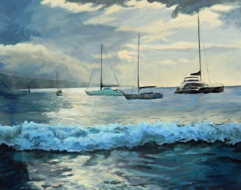 StantonRuth_Boats on Auau_Acrylic_16x20_DSCN6740